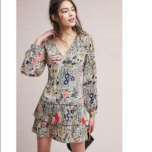 Botanical Pleated Petite Shift Dress size SP